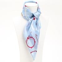 53*53cm  Bocoos mulberry silk scarf light blue silk small silk scarf small facecloth female scarf