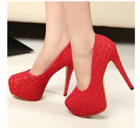 2014 brand women shoes high heels sandals sexy 13cm ultra-high with the lace wedding shoes party shoes