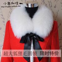 New Fashion Women's Ribbon o-neck fox fur collar muffler scarf 5colors