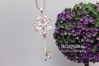 Fashion accessories necklace key long necklace elegant cutout  clothes female accessories