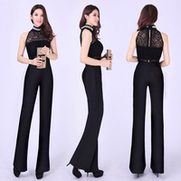 2014  summer high waist jumpsuit trousers jumpsuit