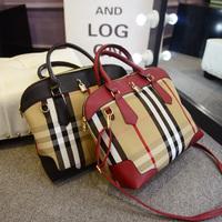 New 2014 winter fake designer brand fringe handbag women bolsa com franja British fashion vintage canvas lattice shoulder bag