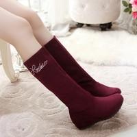 Shoes female autumn boots customize plus size boots 40 41 42 43 44 45 46 plus size
