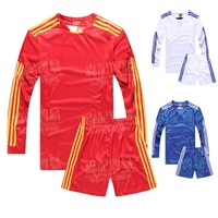 Autumn and winter long-sleeve paintless soccer jersey set male soccer jersey football training suit football jersey