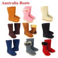 Genuine Leather Australia Winter Snow Boots For Women Men Brand Ladies Designer Flat Heels Girls Leopard Warm Shoes Plus Size