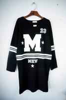 New arrival plus size clothing mm medium-long loose basic shirt long-sleeve T-shirt outerwear sweatshirt female