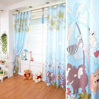 kids cartoon curtain yarn child boy girl animals curtain window screening tulle curtains windows free shipping