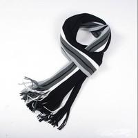 Men's new men's scarf knitted wool scarf 2014 wide stripes warm winter days tide men's scarf