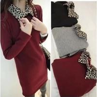 Women's plus size basic shirt thickening female turn-down collar long design slim hip thermal plus velvet long-sleeve T-shirt