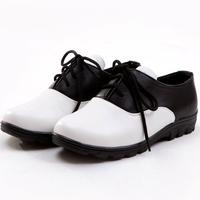 Children shoes child leather male child lacing shoes black white fashion formal dress shoer  performance children shoes