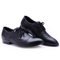 Formal leather commercial single male shoes casual fashion pointed toe shoes male black