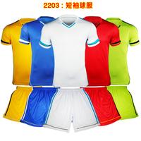 Summer mesh paintless uniforms personalized blank jersey badge male football jersey short-sleeve jersey