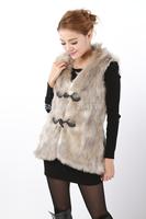 Fashion gradient fox finelines faux women's vest