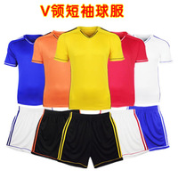 Paintless soccer jersey separate football pants jersey football top V-neck series badge