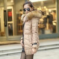 2014 winter wadded jacket women's medium-long slim thickening design down cotton-padded jacket outerwear female ,C2087
