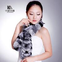 Spring and autumn yarn scarf women's top rex rabbit hair scarf muffler scarf winter fur scarf yarn scarf muffler