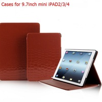 9.7INCH Slim crocodile pattern leather Case  / sleep DROP DETECTION cooling housing  Tablets  book Cover shell for PAD ipad2/3/4