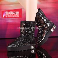 Thermal 2014 plus velvet snow boots short boots platform boots slip-resistant boots