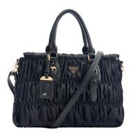 Hot-selling iw2014 women's fashion ol handbag waterproof nylon pleated bag one shoulder handbag