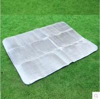 Aluminum foil moisture-proof pad outdoor tent aluminum film camping mat picnic rug beach mat 200*150cm