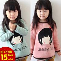 2014 autumn and winter doll girls clothing baby child long-sleeve T-shirt tx-2663 basic shirt