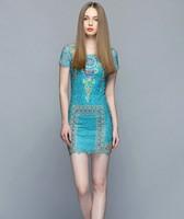 2015 Summer Elegant flower lace slim one-piece dress short-sleeve lace