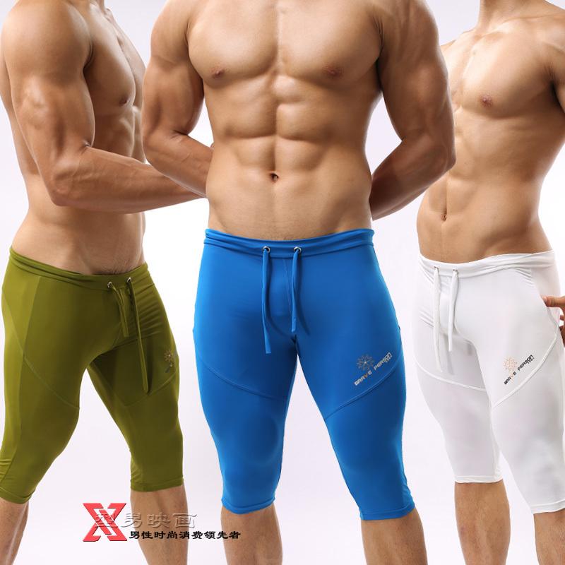 2015 Men's knee-length shorts Bicycle Cycling shorts male sports training shorts bicycle tight shorts(China (Mainland))