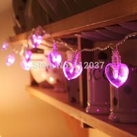 LED Chandelier AA Battery Powered Luminous Light Home Decoration Navidad Lamps 4M Holiday Lighting String Heart Pendant Lights
