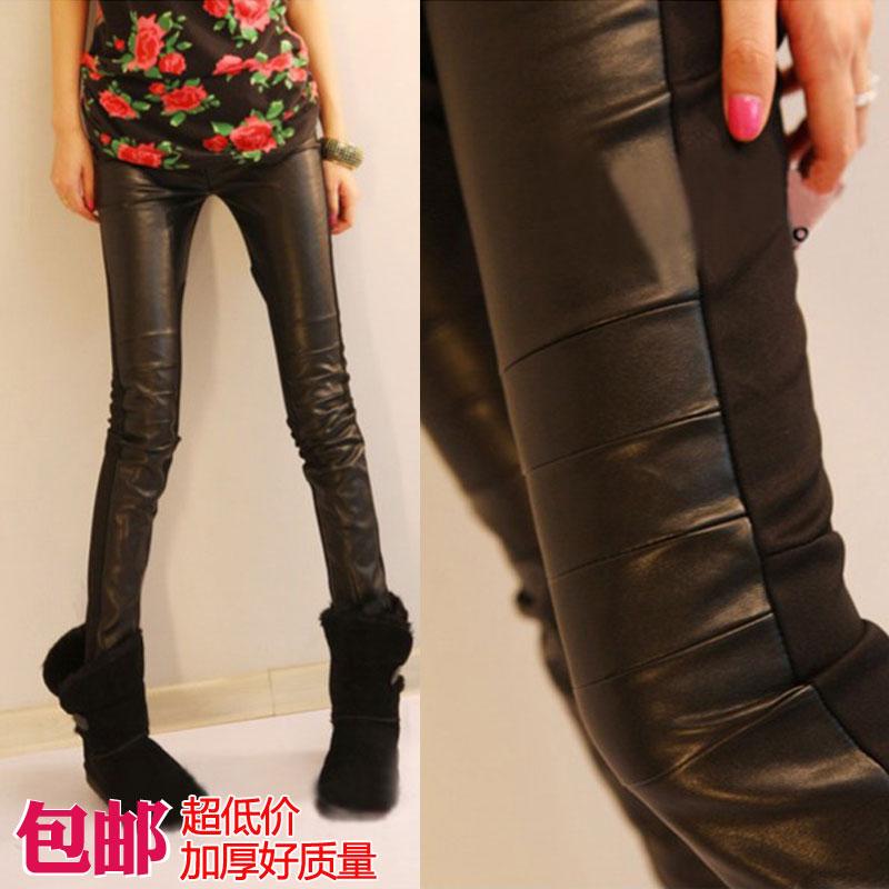Женская искусственного кожаные брюки п . и . брюки лоскутное карандаш брюки в новый заклинание кожаные леггинсы бриджи супер хорошее(China (Mainland))