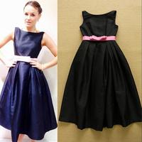 European Top Fashion Luxury Designer Dress Sweet Princess Style Sleeveless Bow Ball Gown Charming Nobel Prom Dress
