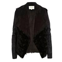 2013 women's fur coat fur one piece leather clothing faux winter outerwear