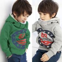 British style children's winter warm hooded sweater boy thick cashmere sweater coat Children