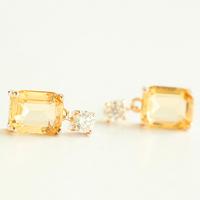 Elegant zircon gem crystal stud earring clip earrings no pierced earrings fashion accessories female
