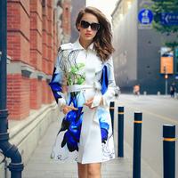 Free Shipping Prase women's 2014 autumn outerwear h print casual clothing outerwear