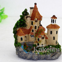 Aquarium decoration fish tank resin fashion European castle undersea world