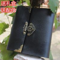 Leather antique lockbutton diy photo album book gift lovers handmade photo album baby