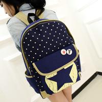 2014 New Backpack Canvas Backpack Backpack Stars 1B030