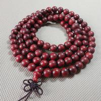 Lobular red sandalwood bracelets 108 8mm oil beads bracelet