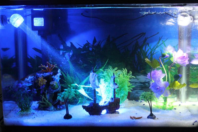Duck ball-type led lamp submersible lamp aquarium fish tank aquarium small spotlights water lamp 1w(China (Mainland))