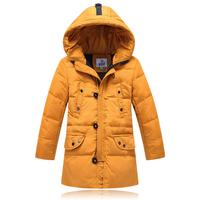 children baby boys kids long design hooded 90% white duck down jacket 2014 winter new fashion thicken warm parkas coat outerwear