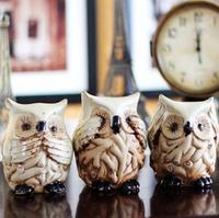 Free shipping(3 pcs) Fashion European Style Owl piggy bank birthday gift wedding gift  for home decoration