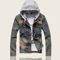 Hot sale free shipping men denim jacket coat outdoors casual jeans jackets size M L XL XXL 3XL CY26