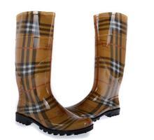 Advanced 2014 women's high fashion pvc rain boots rainboots stripe black outsole(China (Mainland))