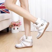 2014 high single shoes female shoes rivet shoes women's shoes celebrity