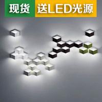 Lighting led art wall lamp square ice cubes stereo rhombus wall lamp box wall lamp