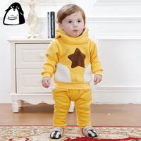 Babyrow children's winter clothing male female child baby clothes wadded jacket baby winter child sweatshirt set