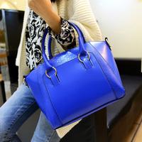 Bags 2014 vintage color block for Crocodile big bag fashion casual handbag fashionable one shoulder women's handbag