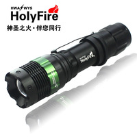 US import cree bulb Rechargeable adjustable zoom stepless dimming outdoor camping flashlight Aluminum Alloy torches 2014