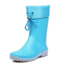 Woman Rain Boots Winter Rain Boots Women 2014 Rain Boots Woman Rubber Shoes Snow Boots(China (Mainland))