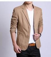 2014 Men Fashion Blazer Male Slim suit Men's Clothing Casual suit Male Outerwear Solid Color Men Jacket